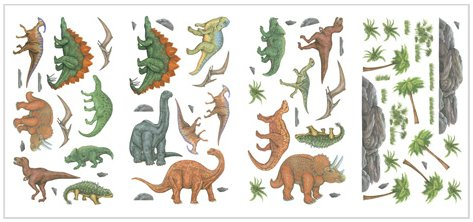 Dinosaur Appliques - Wall Sticker Outlet