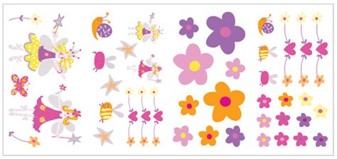 Fairies Appliques - Wall Sticker Outlet