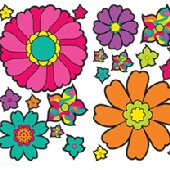 Groovy Flower Appliques