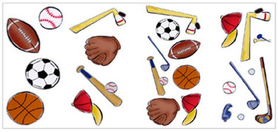 Lets Play Ball Appliques - Kids Wall Decor Store