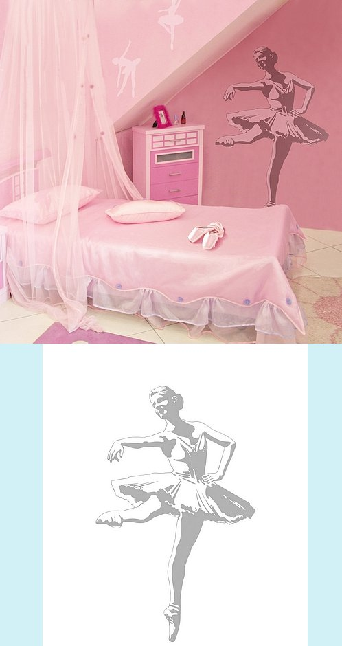 Ballerina - Sudden Shadows Wall Decals - Kids Wall Decor Store