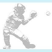 Baseball Catcher - Sudden Shadows Wall Decals