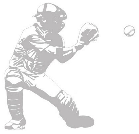 Baseball Catcher - Sudden Shadows Wall Decals - Kids Wall Decor Store