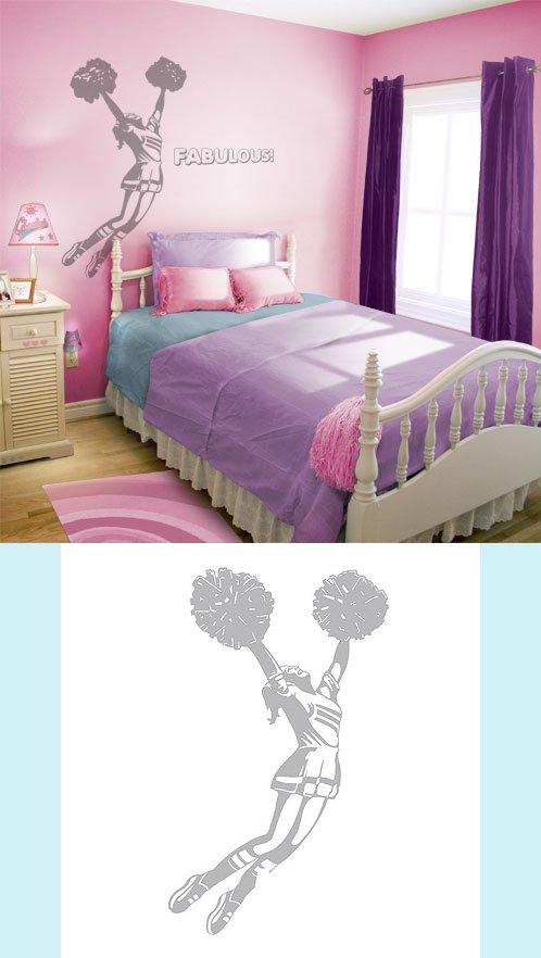 Cheerleader - Sudden Shadows Wall Decals - Wall Sticker Outlet
