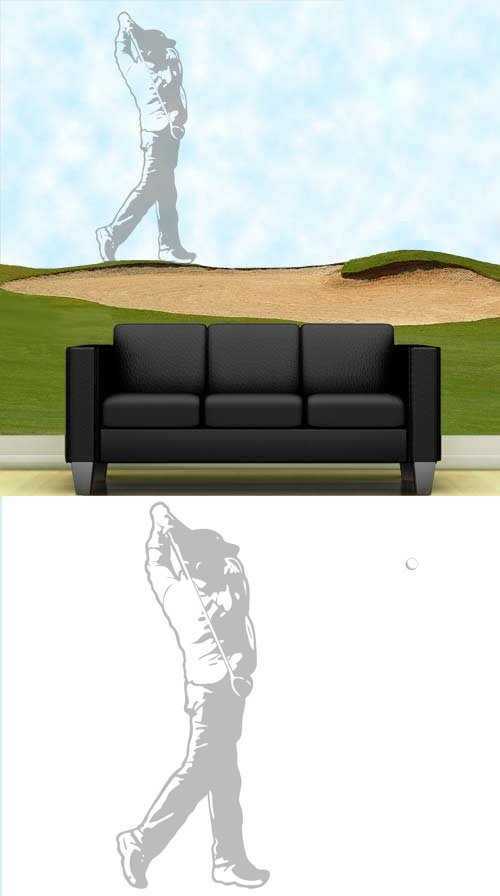 Golfer - Sudden Shadows Wall Decals - Kids Wall Decor Store