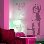 Rock Star - Sudden Shadows Wall Decals