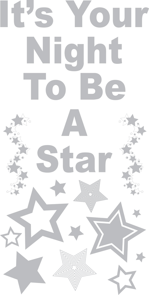 Rock Star Phrases - Sudden Shadows Wall Decals - Kids Wall Decor Store
