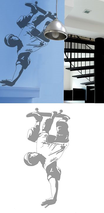 Skateboarder - Sudden Shadows Wall Decals - Wall Sticker Outlet