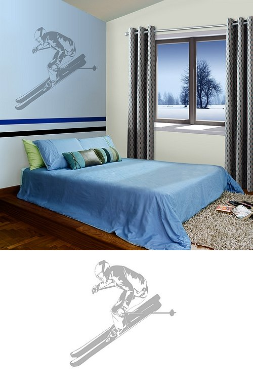 Skier - Sudden Shadows Wall Decals - Kids Wall Decor Store