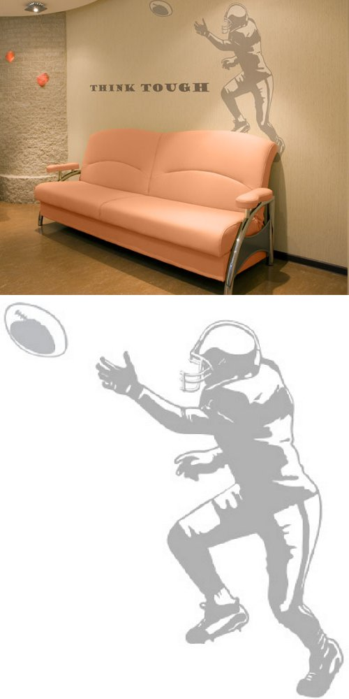Football Tackle - Sudden Shadows - Kids Wall Decor Store