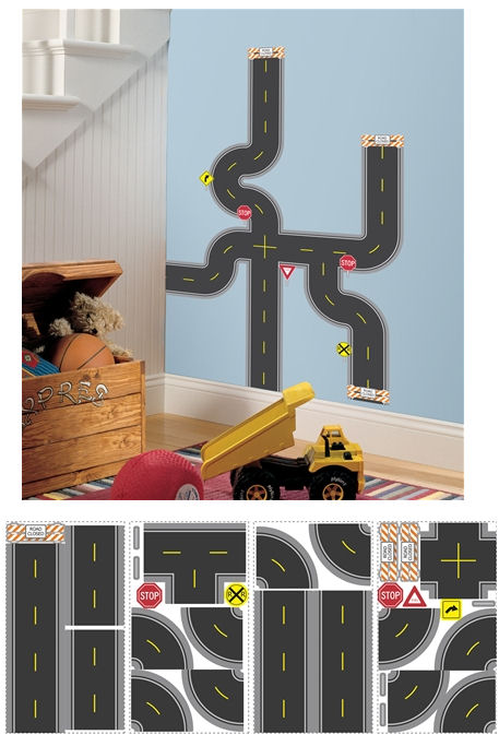 Build A Road Wall Decals - Wall Sticker Outlet