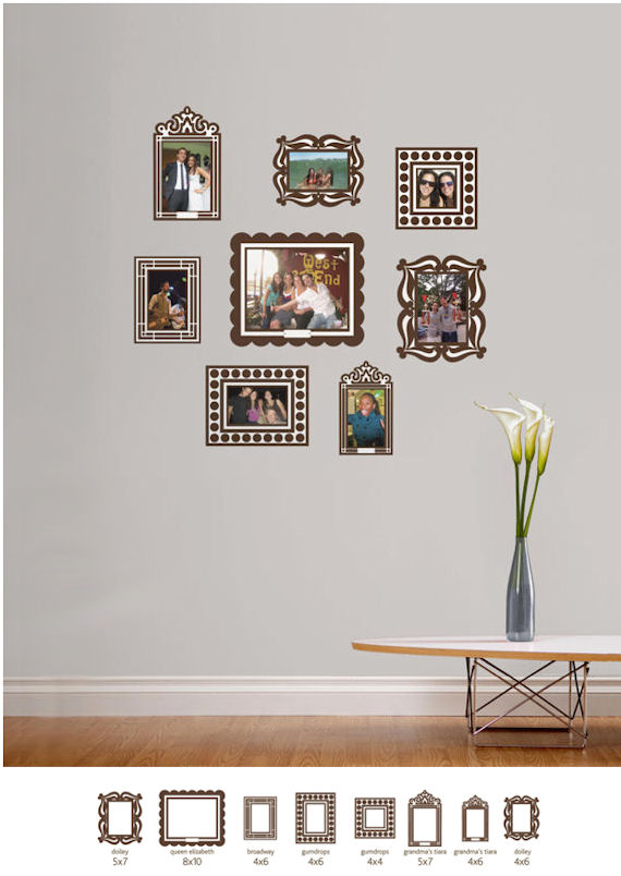 Butch and Harold Brown Sticker Frame Kit - Wall Sticker Outlet