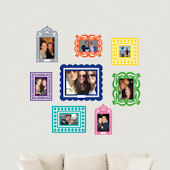 Multi Colored Sticker Frame Peel and Stick Kit