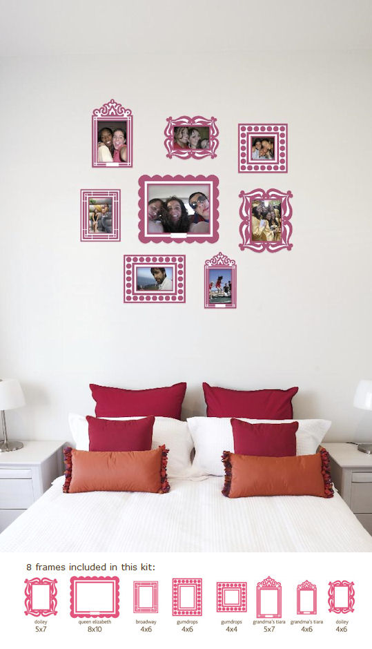Butch and harold pink sticker frame kit kids wall decor store