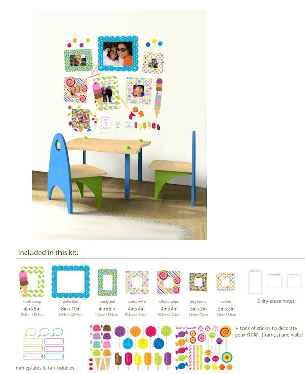Butch and Harold Sweet Peel and Stick Frames - Wall Sticker Outlet
