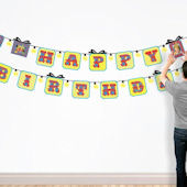 Butch and Harold Happy Birthday Sticker Banner