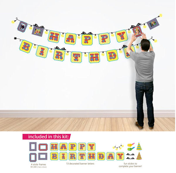 Butch and Harold Happy Birthday Sticker Banner  - Wall Sticker Outlet