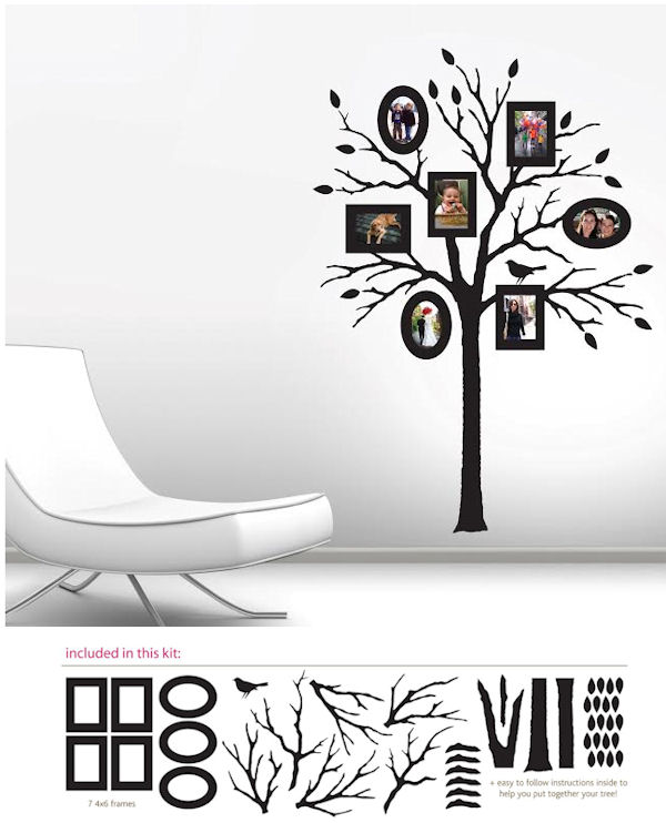Butch and Harold Peel and Stick Photo Frame Tree - Wall Sticker Outlet