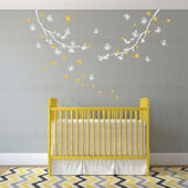 Butterfly Branch Wall Decals Color Scheme B