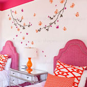 Butterfly Branch Wall Decals Color Scheme C