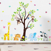 Butterfly Jungle Animal Wall Decals