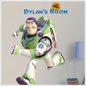 Buzz Lightyear Personalized Giant Wall Decal