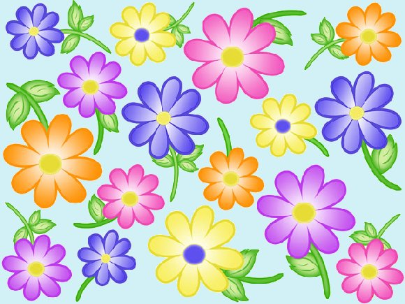 Contempo Flowers Create A Wall Mural Pieces - Wall Sticker Outlet
