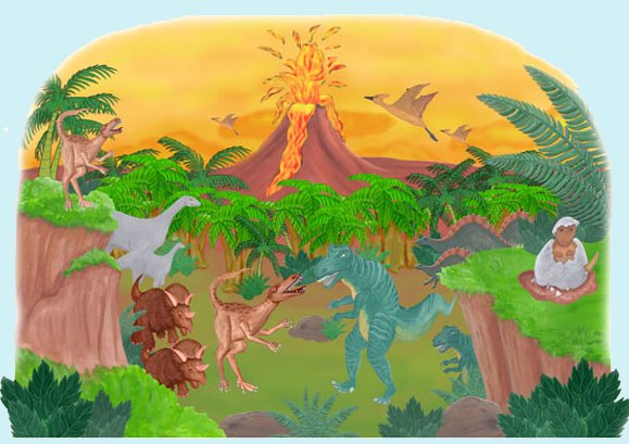 Dinosaur Create A Wall Mural - Kids Wall Decor Store