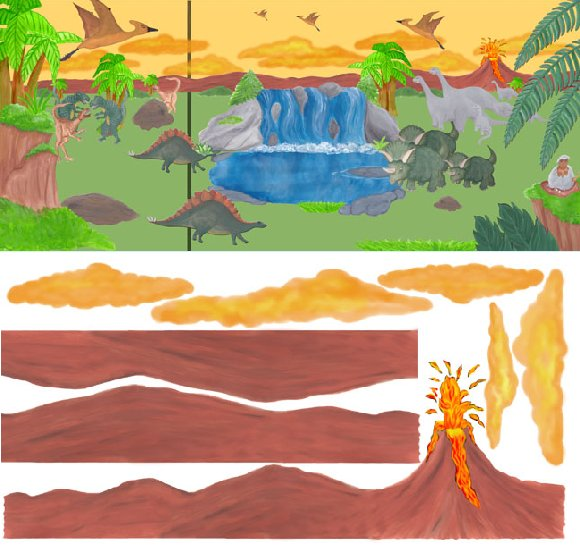 Dinosaur whole room create a wall mural kit kids wall for Dinosaur mural kit