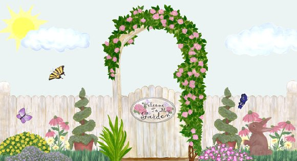 Garden Create A Wall Mural - Wall Sticker Outlet