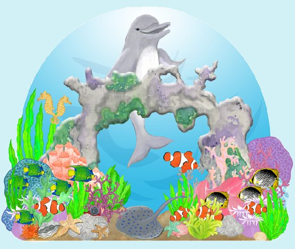 Happy Dolphin Create A Wall Mural - Wall Sticker Outlet