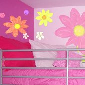 Luv Bugs and Flowers Create A Wall Mural