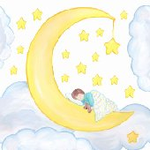 Moon Baby Create A Wall Mural