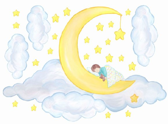 Moon Baby Create A Wall Mural - Wall Sticker Outlet