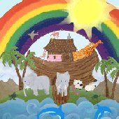 Noahs Ark Room Create A Wall Mural SALE