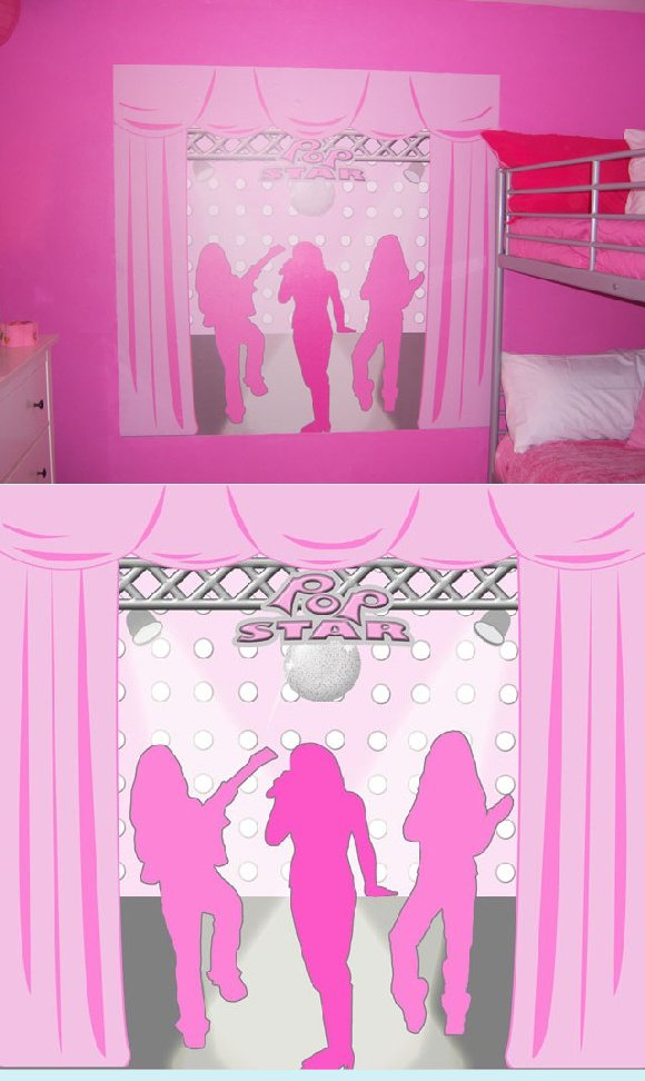Pop Star Create A Wall Mural - Wall Sticker Outlet
