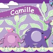 Customized Purple Elephant Create A Wall Mural