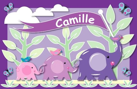 Customized Purple Elephant Create A Wall Mural - Wall Sticker Outlet