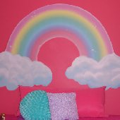 Girls Rainbow Create A Wall Mural - 4 Sizes