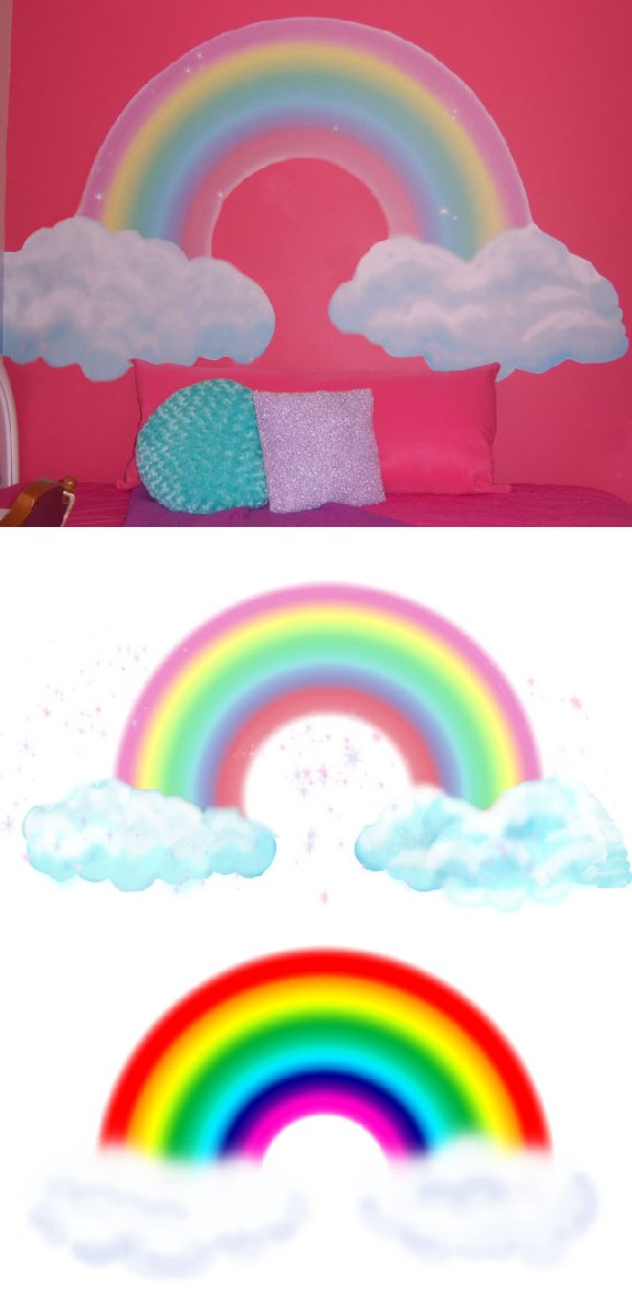 Girls Rainbow Create A Wall Mural - 4 Sizes - Kids Wall Decor Store