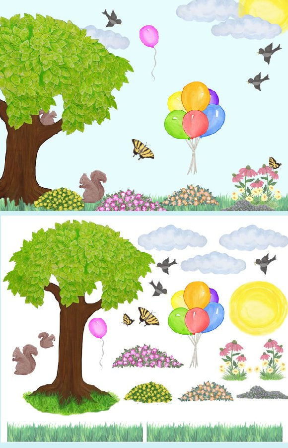 Sunny days create a wall mural for Create a wall mural
