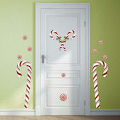 Giant Candy Cane Holiday Wall Decals