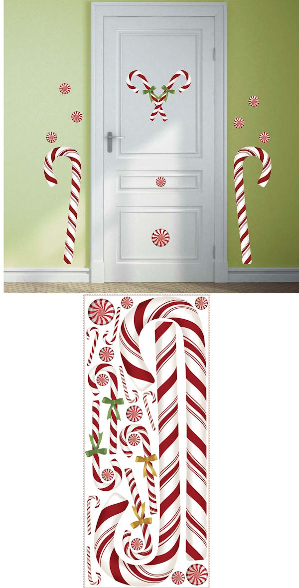 Giant Candy Cane Holiday Wall Decals - Wall Sticker Outlet
