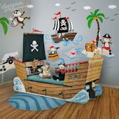 Captain Jack and Treasure Island Giant Wall Decals