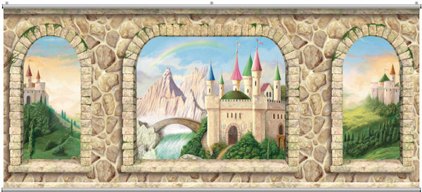 Castle Stone Wall Minute Mural - Wall Sticker Outlet