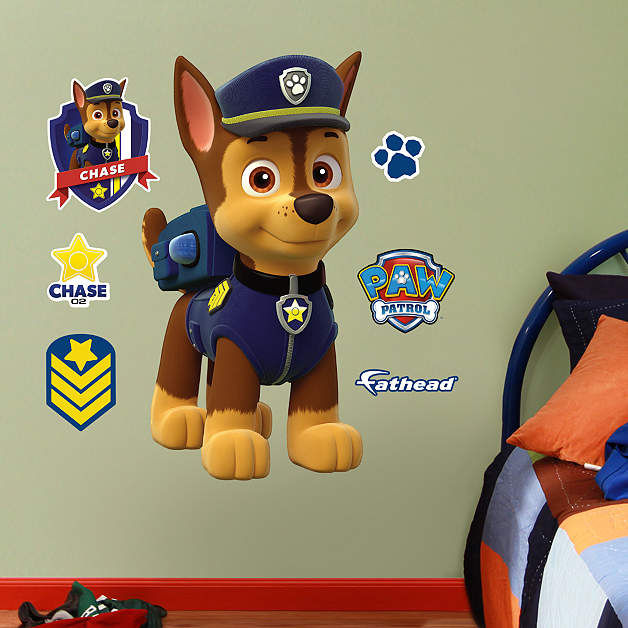 fathead paw patrol chase jr wall decal. Black Bedroom Furniture Sets. Home Design Ideas