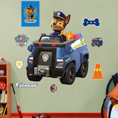 Fathead Paw Patrol Chases Police Truck Decal