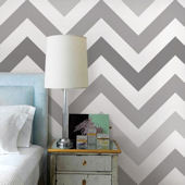 Chevron Cool Gray Peel and Stick Wallpaper