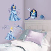 Cinderella Glamour Wall Decals