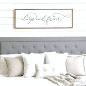 Always and Forever Wooden Wall Sign